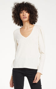 Z Supply LILITH SLUB TEE in Bone - Whim BTQ