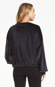 Z Supply BODHI VELOUR SWEATSHIRT in Black - Whim BTQ