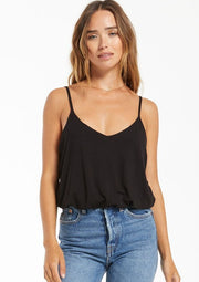 Z Supply Mirabel Sleek Tank in Black - Whim BTQ