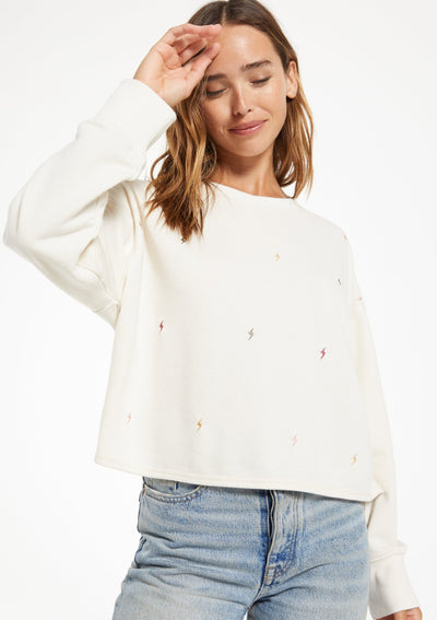 Z Supply AMELIA MINI BOLT PULLOVER - Whim BTQ