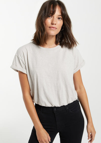 Z Supply KEI SKIMMER SLUB TEE In Soft Grey - Whim BTQ