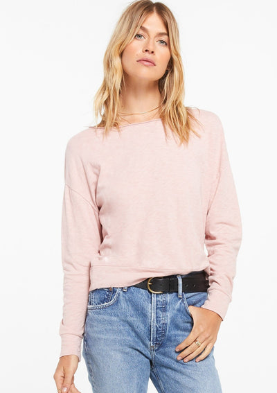Z Supply NAISER SLUB TOP in Pink Blossom - Whim BTQ
