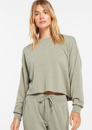 Z Supply IZZY LOOP TERRY PULLOVER - Whim BTQ