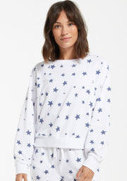 Z Supply Marella Star Pullover in White - Whim BTQ