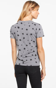 Z Supply Easy Star Tee in Charcoal - Whim BTQ