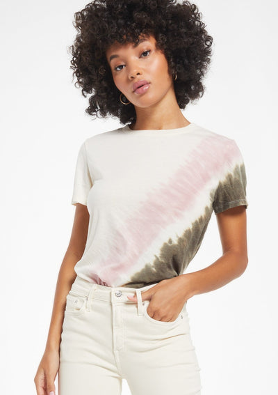 Z Supply EASY STRIPE TIE-DYE TEE - Whim BTQ