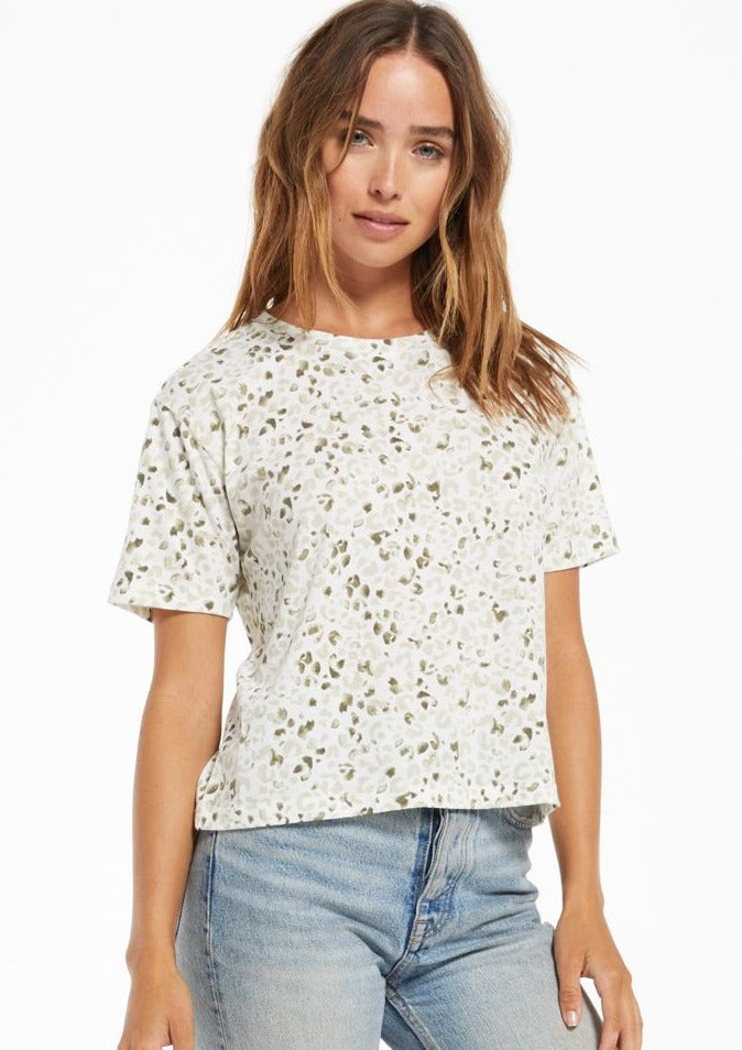 Z Supply Easy Painted Leopard Tee - Whim BTQ