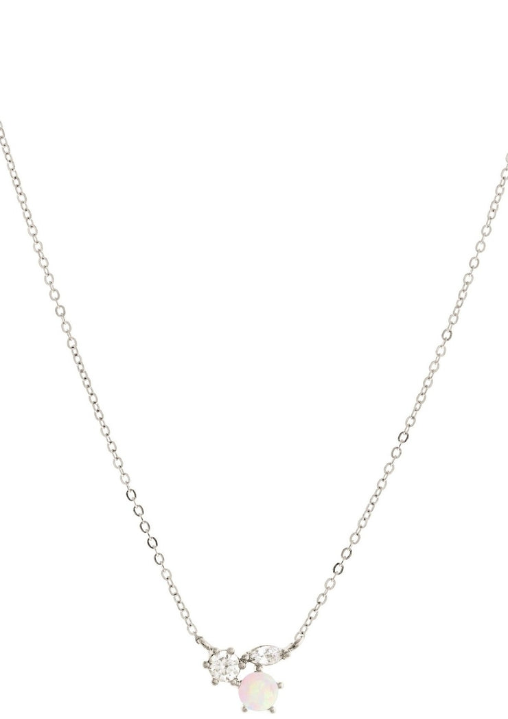 Girl Crew Mila Necklace in Silver - Whim BTQ