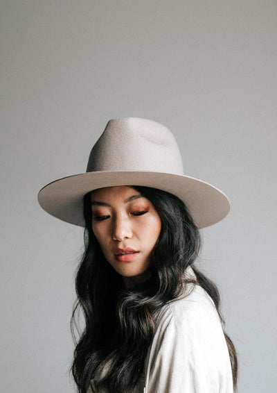 Gigi Pip Billie Tall Fedora in Ivory - Whim BTQ
