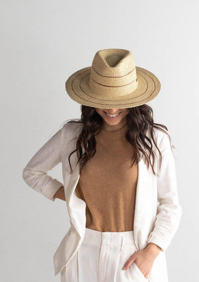 Gigi Pip Camila Fedora Natural with Stripes - Whim BTQ