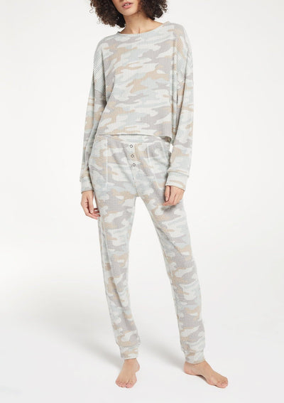 Z Supply COZY CAMO JOGGER in Sage Mist - Whim BTQ