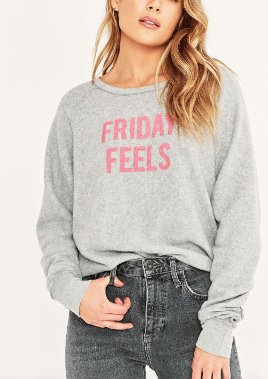 Project Social T Monday Mood/Friday Feels Reversible Sweatshirt - Whim BTQ
