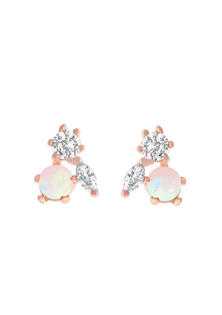 Girls Crew Mila Post Earrings in Rose Gold - Whim BTQ