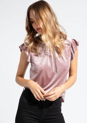 Gentle Fawn LILY TOP in Mink Pink - Whim BTQ