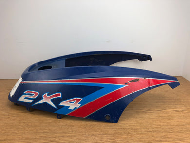 1991-1996 Polaris Trail Boss Blazer 250 300 2x4 Tank Cover Blue - CRACKED SEE PICS