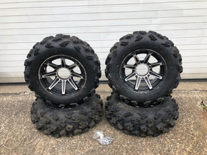 "Set of Polaris STI 14"" Wheels and STI Black Diamond Tires"