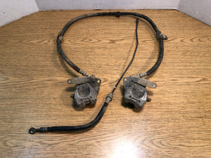 2004-2013 Yamaha Raptor 350 YFM350 OEM Left Right Front Brake Calipers Lines