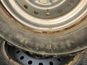 2002 Honda Foreman 450 ES TRX450 Set Left Right Front Wheels Rims Tires