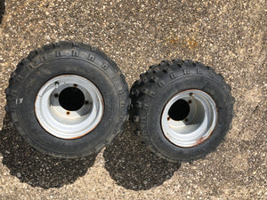 1988-2006 Yamaha Blaster YFS200 Set of 2 Rear Wheels Tires Rims Left Right