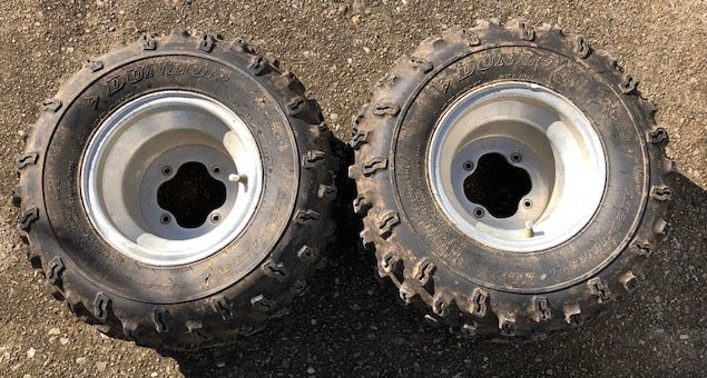 2006 Yamaha YFZ450 2 Rear ITP Wheel Rims Dunlop Tires 20x10R-9