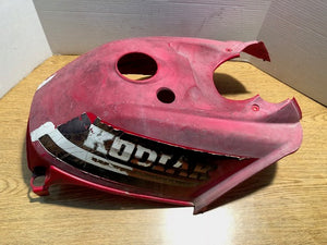 2000-2002 Yamaha Kodiak 400 4x4 OEM Fuel Tank Top Cover Plastic Red