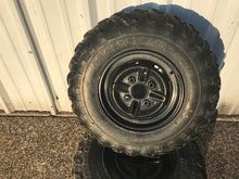 2003 Yamaha Kodiak 400 4x4 Front Rims Wheels and Tires Maxxis 25x8-12