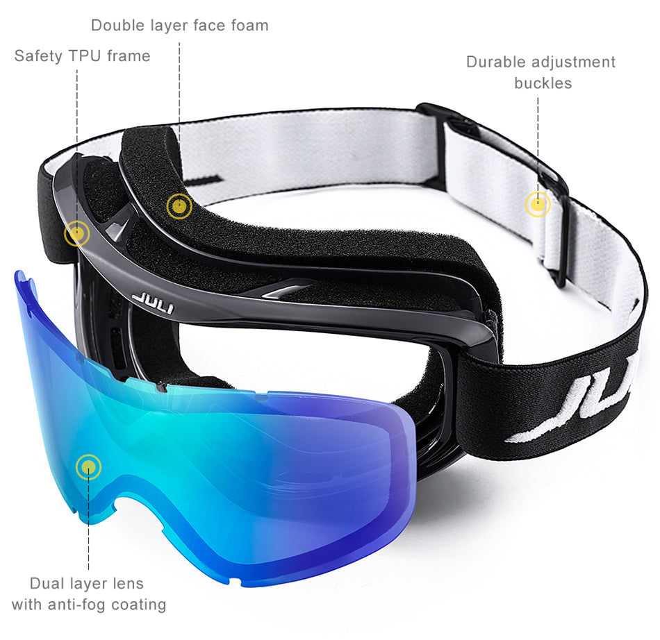 Clear Extreme Ski and Snow Glasses