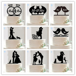 10 Style Optional Acrylic Wedding Cake Topper Wedding Cake Stand Wedding Cake Accessories Wedding Cake Top Decoration - cake decorations ideas