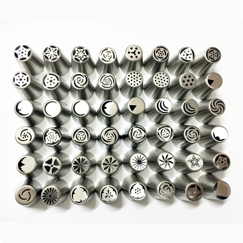 48 Pieces Russian Stainless Steel Icing Piping Nozzles Tips Pastry Cake - cake decorations ideas