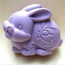 3D Easter Rabbit Animal Soap Mold Resin Clay Candle Chocolate Silicone Cake Molds Fondant Cake Decorating Baking Tools Q083 - cake decorations ideas