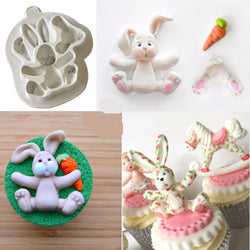 3D RABBIT Easter Bunny Silicone Mould Fondant Cake Molds Cupcake Tools Confeitaria Kitchen Accessories FM1154 - cake decorations ideas