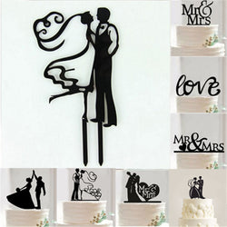 1Pcs Acrylic Bride And Groom Wedding Cake Topper Wedding Cake Stand Decoration Mariage  Party Cake Decorating Supplies - cake decorations ideas