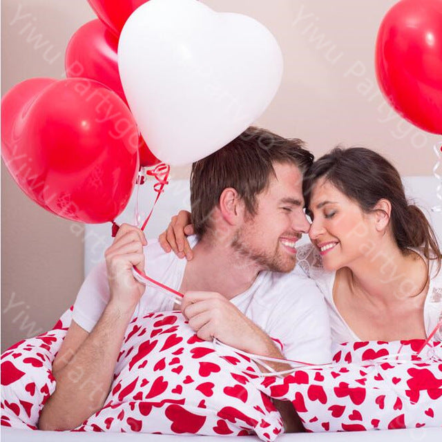 2.2g 20pcs/lot Romantic lovely Red Heart Shaped Pearl Latex Balloons Wedding Birthday Party Decor Valentines Day inflatable ball - cake decorations ideas