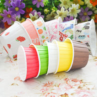 Colorful Cupcake Liners Muffins Paper Cupcake Cases White Wedding Party Dessert Baking Paper Cups 100 Pcs/ lot - cake decorations ideas