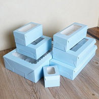 1/2/3/4/6/8 holes Blue muffin box cake cup box cupcake packaging paper box with bottom bracket pudding pastry 10pcs/lot - cake decorations ideas