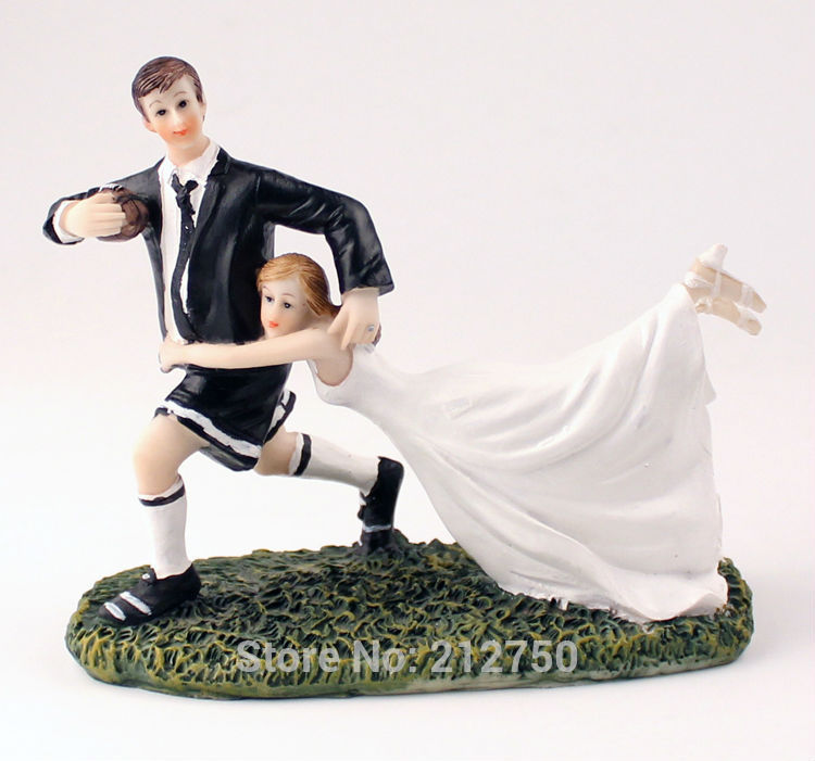 romantic rugby ball love bride groom cake toppers wedding supplies - cake decorations ideas