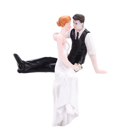 High Quality Synthetic Resin Bride Groom Wedding Cake Topper Romantic Wedding Party Decoration Adorable Figurine Craft Gift - cake decorations ideas