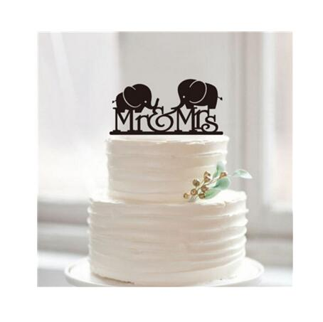 1pcs Acrylic Bride And Groom Wedding Cake Topper Wedding Cake Stand
