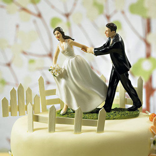 Showered with Fashion Couple Figurine Funny wedding cake toppers - cake decorations ideas