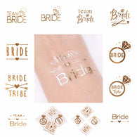 FENGRISE Team Bride Tattoo Stickers Bachelorette Party Bride Temporary Tattoo Hen Party Bridal Shower Wedding Favors And Gifts - cake decorations ideas