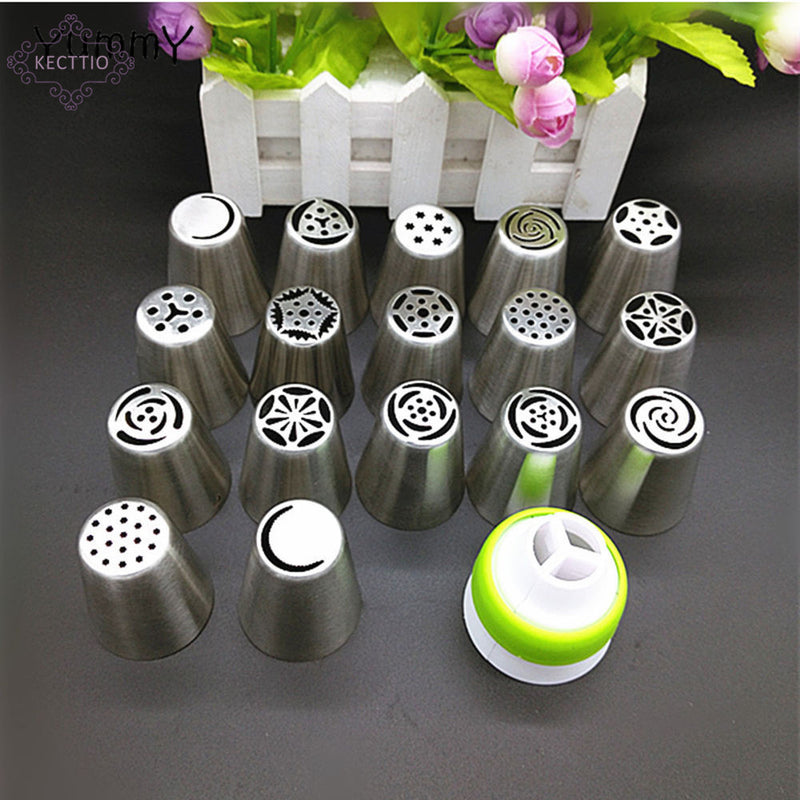 17 Pieces Russian Stainless Steel Icing Piping Nozzles - cake decorations ideas