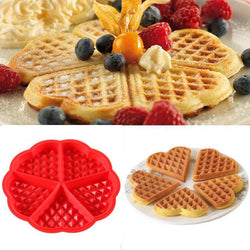 Kitchen Silicone Mini Round Waffles Pan Cake Baking Mould Mold Waffle Tray - cake decorations ideas