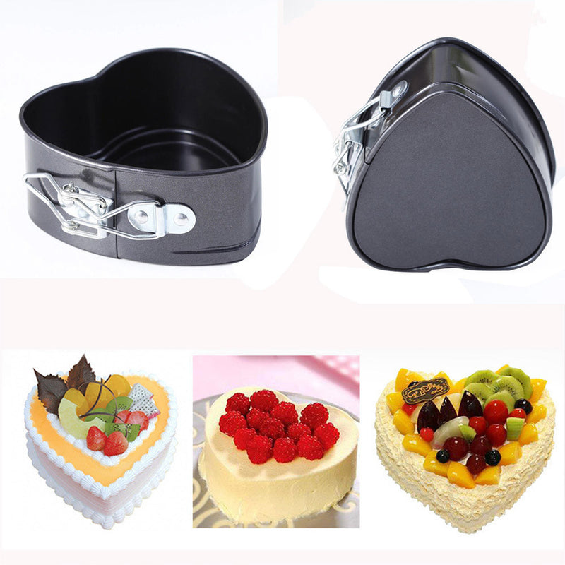 Non-Stick Love Heart Shape Cake Pan Tin DIY Cake Mold Baking Cheese Bread Tray - cake decorations ideas