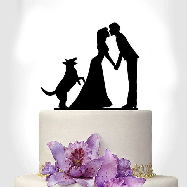 Tronzo New Black Acrylic Wedding Cake Topper For Decor Mariage Mr
