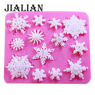 FREE 3D Christmas snowflake Shaped DIY chocolate fondant silicone mould - cake decorations ideas
