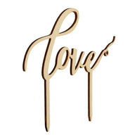 Wooden Wedding Cake Supplies English Letters Love Shaped Wedding Cakes Topper - cake decorations ideas