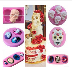 Wholesale/retail,free shipping,Halloween series skull silicone mold chocolate mould Skeleton Cake decoration mold - cake decorations ideas