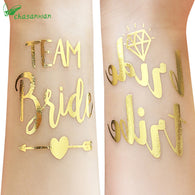 50Pc Bridesmaid Gift Bridal Shower Wedding Decoration Team Bride Temporary Tattoo Bachelorette Party Bride Tribe Flash Tattoos,Q - cake decorations ideas