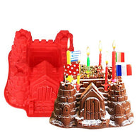 big castle chocolate christmas silicone cake mold bakeware set silicone moulds for cake decorations K1862 - cake decorations ideas