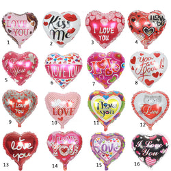 High Quality 10pcs/lot 18'' I LOVE YOU Balloon Valentine day Wedding Decorations party supplies Heart shape love foil balloons - cake decorations ideas